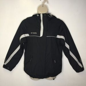 Columbia size L black jacket with hood front zip